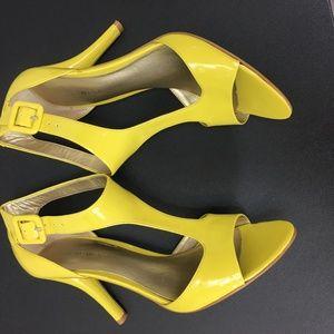 Almost NEW!!  NINE WEST lemon zest heels!